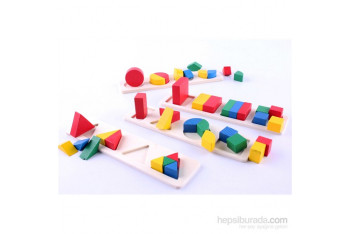 Wooden Toys Geometrical Shape Building Block