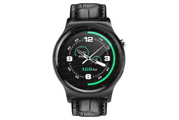 Dark SW08 Smart Watch IOS ve Android Uyumlu Siyah Akıllı Saat Siyah Deri KayışDK-AC-SW08BL