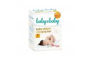 Baby & Baby Kaydırmaz Bantlı Bebek Bakım Örtüsü 10 Kullanım 60 x 60 cm