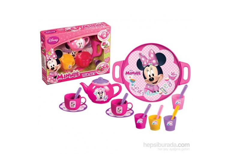 Minnie Mouse Tepsili Çay Seti