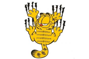 Csı Sevimli Garfield Fosforlu Sticker 13 Cmx9cm
