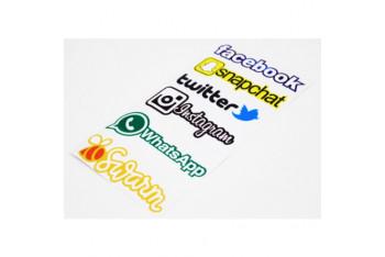 ModaCar Sosyal Medya Sticker Seti 105083