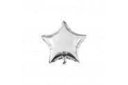 Gümüş Yıldız Folyo Balon 40cm