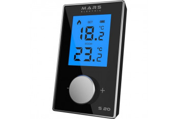 Mars S20X Kablolu Dijital Oda Termostatı Siyah
