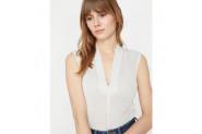 Koton Kadın V Yaka T-Shirt - L - Gri