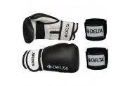 Delta Spider Dura-Strong Boks Eldiveni + Boks El Bandajı Seti - 10 - Siyah