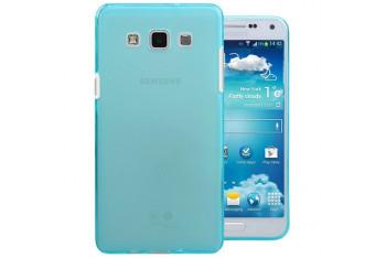 Microsonic Samsung Galaxy E5 Kılıf Transparent Soft Mavi - CS130-TRP-GLX-E5-MVI