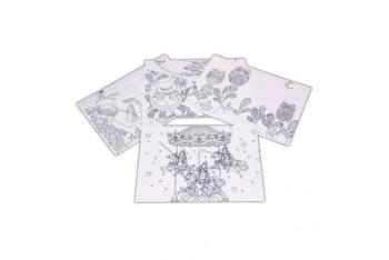 Sensho E2845 A4 Boyanabilir Desenli çıtçıtlı dosya