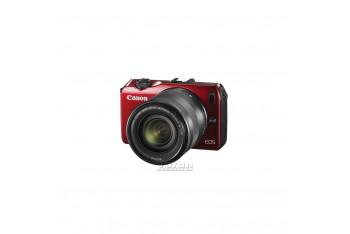 """Canon EOs M 18 MP 3"""" LCD Ekran 18-55 Lens Dijital Fotoğraf Makinesi - Kırmızı"""