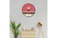Decoclub 35x35 cm Kitchen Dekoratif Bombeli Cam Duvar Saati DBS179