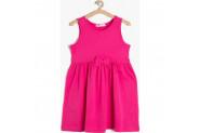 Koton Kız Çocuk Fiyonk Detaylı Elbise Fuşya - 4 - 5 Yaş