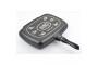 Özkent 501 Granit Grill Tava 36 cm Siyah