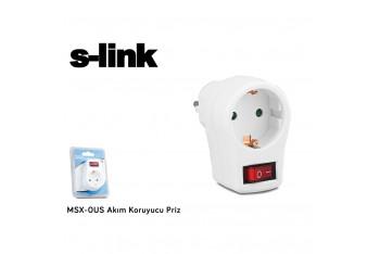 MsX-0Us Tekli Akım Korumalı Priz- Beyaz