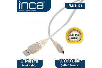 Inca UsB'den Mini UsB'ye Çevirici Kablo UsB 2.0 1mt