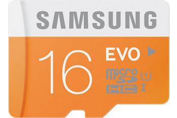 Samsung Evo microSDHC 16 GB Class 10