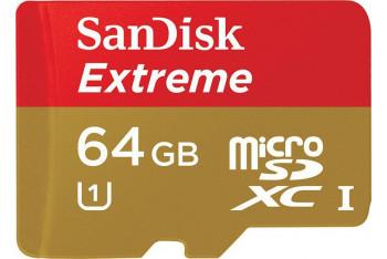 Sandisk microSDXC 64GB Class 10 UHS-I Extreme