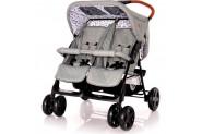Lorelli Twin Yan Yana İkiz Bebek Arabası - Gri