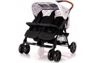 Lorelli Twin Yan Yana İkiz Bebek Arabası - Siyah