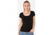 Slazenger Yonca Kadın 0 Yaka T-Shirt Siyah - XXL