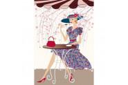 Duvar Tasarım DC 2210 İllustration Fashion Kanvas Tablo - 50x70 cm