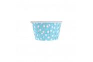 Bebek Mavisi Puantiyeli Muffin Kek Kapsülü 25li
