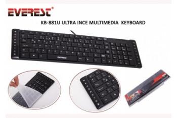 Everest KB-881U Ultra Slim Multimedya