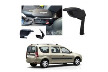 Autoen Dacia Logan Mcv 2004-2012 Bardaklıklı Kol Dayama Kolçak Siyah Delme Yok!