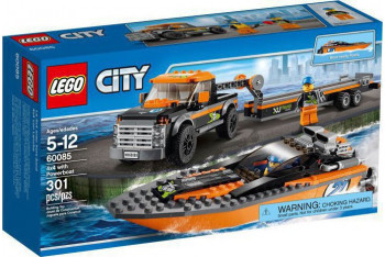 Lego City 4x4 With Powerboat