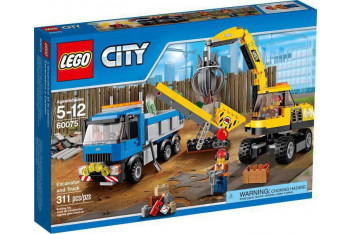 Lego Excavator and Truck 60075