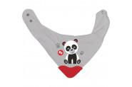 Fisher-Price Panda Fular Diş Kaşımalı Önlük - Gri