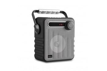 Mikado MD1437 3W Bluetooth FM Radyo Destekli Hoparlör UsB Gümüş/Gri