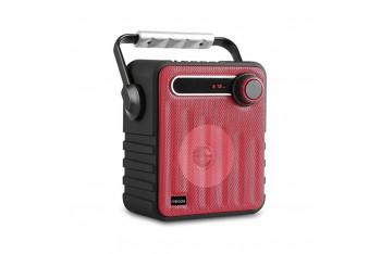 Mikado MD1437 3W Bluetooth FM Radyo Destekli Hoparlör UsB siyah/Kırmızı