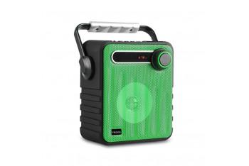 Mikado MD1437 3W Bluetooth FM Radyo Destekli Hoparlör UsB siyah/Yeşil