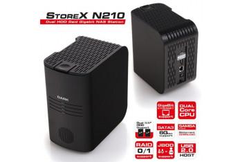 "Dark StoreX N210 2x3.5"" HDD ve RAID Destekli Gigabit NAS İstasyonu DK-AC-DSN210"