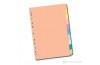 Serve Pastel Seri Karton Ayraç/5 RenkliKulakçıklara Yazı Yazılabilir ve SilinebilirMylar İle Güçlendirilmiş Delikler ve Kulakçıklar Kağıt Kalınlığı 180Gr/M² Sv-5105