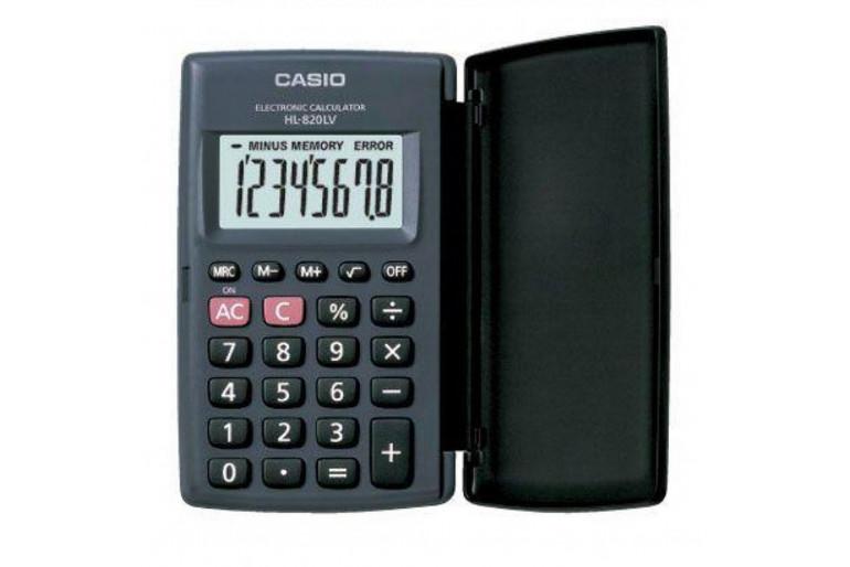 Casio HL-820LV-BK Cep Tipi Hesap Makinesi