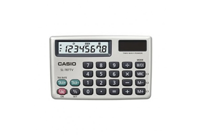 Casio Sl-787Tv-Gd Cep Tipi Hesap Makinesi