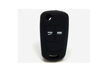Opel Astra Kumanda Kabı Koruyucu Silikon Kılıf 2 Tuş Siyah