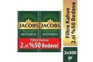 Jacobs Monarch Filtre Kahve 500 Gr Alana İkinci %50 İndirimli