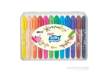 Amos Silky Gel Crayon 12 Renk Csg12