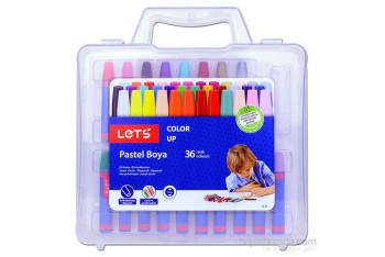 Lets LK36 Çantalı Pastel Boya 36 Renk