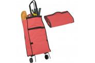 Cmk Katlanabilir Tekerlekli Pratik Çanta Pazar Arabası - Kırmızı