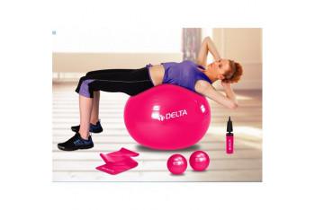 Delta Fuşya Deluxe Pilates Set DS 3016