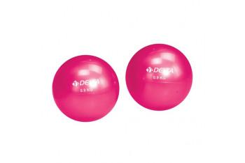 Delta İkiz 0.9 Kg. x 2 1.8 KG Fuşya Pilates Ağırlık Topu Toning Ball - DS 911
