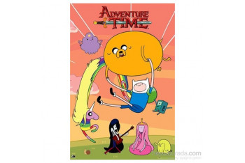 Adventure Time Sunset Maxi Poster