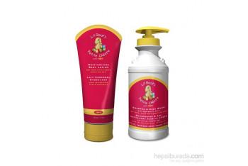 Lİl 2li Bebek Bakım Seti Lİl Keçi Sütlü Nemlendirici Vücüt Losyonu 150 ml v Lil Keçi Sütlü Şampuan Body Wash 475 ml