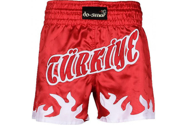 Do-Smai Thai Boxing Alaz Şort MŞ-216 - L - Beyaz - Kırmızı