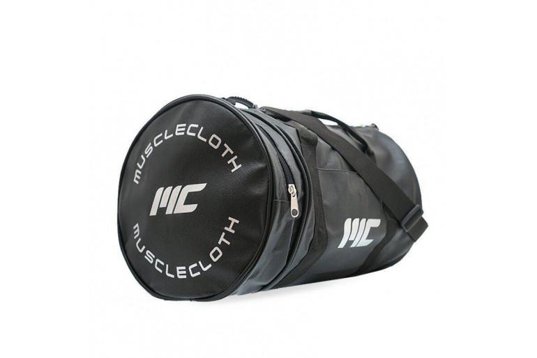 MuscleCloth Deri Silindir Çanta Siyah