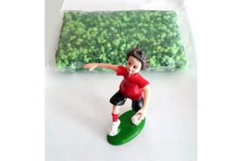 Dekor Futbolcu Çocuk ve Yeşil Çakil