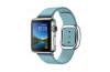 Apple Watch 38mm Paslanmaz Çelik Kasa ve Modern Tokalı Kutup Mavisi Kayış - Büyük Boy